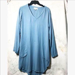 Cloth & Stone • long sleeve blue dress